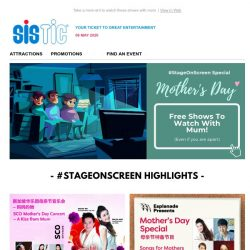 [SISTIC] 8 free shows to watch with mum this Mother's Day!