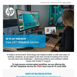 [HP Singapore] Free 24/7 Helpdesk Service - We've Got Your Back!