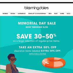 [Bloomingdales] Save 30-50% on these top deals during the Memorial Day Sale