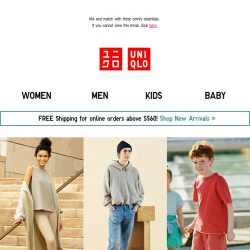 [UNIQLO Singapore] Sport an unconventional homewear look