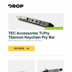 [Massdrop] TEC Accessories Ti-Pry Titanium Keychain Pry Bar, Amare DURO Expedition One Fixed Blade Knife, Montegrappa Nazionale Flex 14K Fountain Pen and more...
