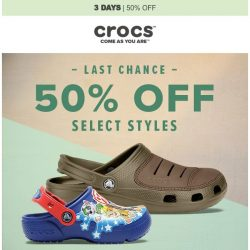 [Crocs Singapore] Ends Today - 50% Off Select Styles