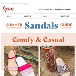 [6pm] Summer Sandals Guide is here!