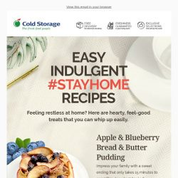 [Cold Storage] Try Our Easy Indulgent #StayHome Recipes! 🏠