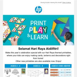 [HP Singapore] Celebrate with our Hari Raya themed printables now! 🎨