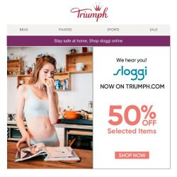 [Triumph] Sloggi now available on Triumph.com!