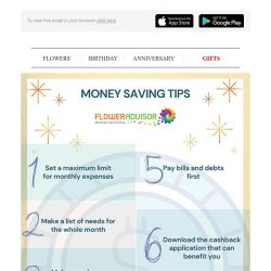 [Floweradvisor] Money Saving Tips