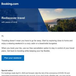 [Booking.com] Travel locally – take a weekend trip