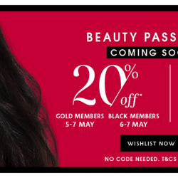 Sephora: Beauty Pass Online Sale with Up to 20% OFF Your Favourite Beauty Products!