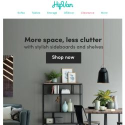 [HipVan] Shop stylish sideboards and shelves from $99!✨