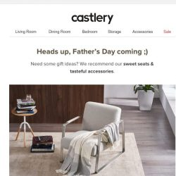 [Castlery] 2020Father's Day Gift Guide