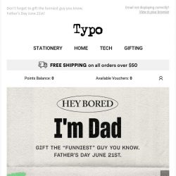 [typo] WARNING: this email contains dad jokes.