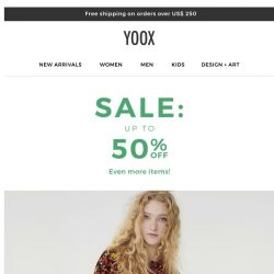 [Yoox] Sale: up to 50% OFF even more items