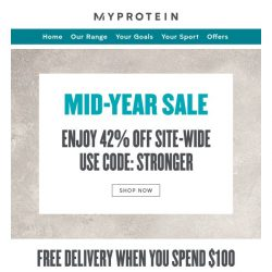 [MyProtein] Choose Your Golden Gift When You Spend $200! ⭐