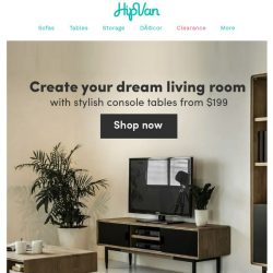 [HipVan] Create your dream living room with stylish TV consoles!😍