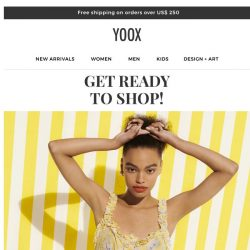 [Yoox] ✨ Get ready to shop! Up to  65% OFF