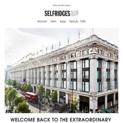 [Selfridges & Co] Our doors have reopened!