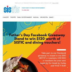 [SISTIC] SISTIC #WinItWednesday for Father's Day 2020 ends tomorrow! 👨