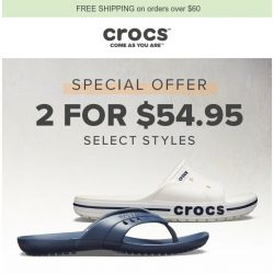 [Crocs Singapore] Get two pairs for $54.95💑