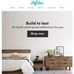 [HipVan] Shop from over 100+ solid wood furniture! ✨