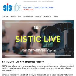 [SISTIC] We will continue to bring you entertainment in Phase 2.