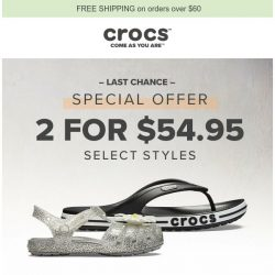 [Crocs Singapore] Last chance to get two pairs for $54.95💑