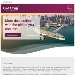 [Qatar] Ready to take you to 47 destinations