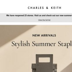 [Charles & Keith] New In: Crumpled-Effect Tote Bags