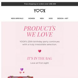 [Yoox] Products we love and can't stop thinking about…