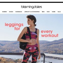 [Bloomingdales] The leggings we live in, from working out to hanging out