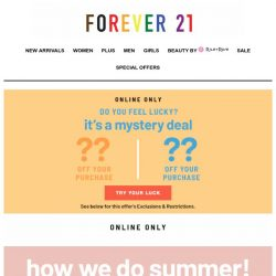 [FOREVER 21] Your summer fling starts now!