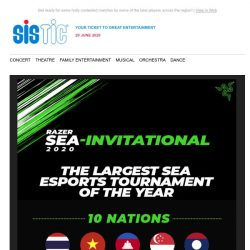[SISTIC] Watch the Largest Esports Tournament of the Year Live!