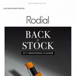 [RODIAL] Back In Stock | Vit C Brightening Cleanser