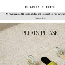[Charles & Keith] Pleats Please
