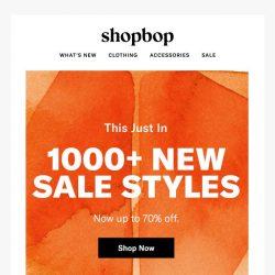 [Shopbop] 1000+ styles just added to sale…!