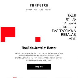 [Farfetch] The best view of new in to Sale