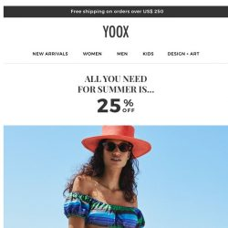 [Yoox] 🍉 All you need for summer is... 25% OFF