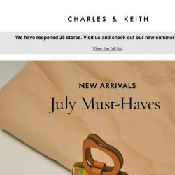 [Charles & Keith] July New Arrivals: Sculptural Handle Bucket Bags