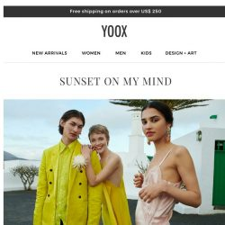 [Yoox] Sunset on my mind: Wear colors of the evening sky