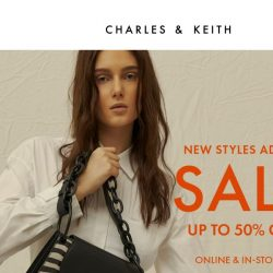 [Charles & Keith] New Styles Added: Up to 50% off