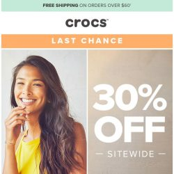 [Crocs Singapore] 👉 30% off ends soon