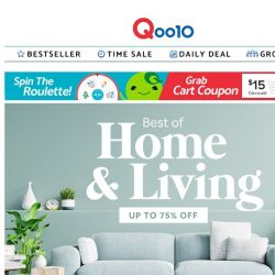 [Qoo10] Create your dream home today! 🏠 Enjoy up to 75% off all household essentials you need! 🤩