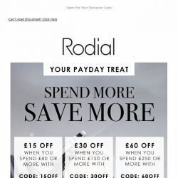 [RODIAL] Last Chance | Save Up To £60 Off 💕