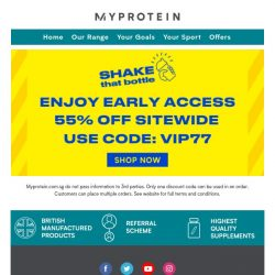 [MyProtein] 😍 Early Access: 7/7 Flash Sale 😍