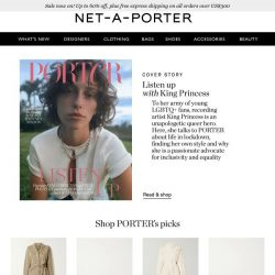 [NET-A-PORTER] King Princess talks inclusivity and equality in PORTER