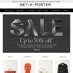 [NET-A-PORTER] Sale update: get up to 70% off now