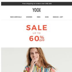 [Yoox] Sale: now with up to 60% OFF