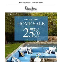 [Neiman Marcus] 25% off Home for a limited time