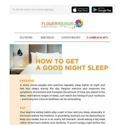 [Floweradvisor] How to Get a Good Night Sleep