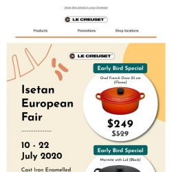 [Le Creuset] Isetan European Fair | 10 - 22 July 2020